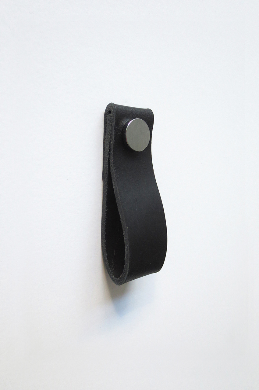 Leather handle black